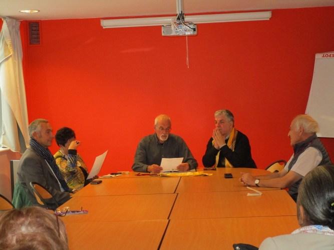 Conférence à Montmartre.