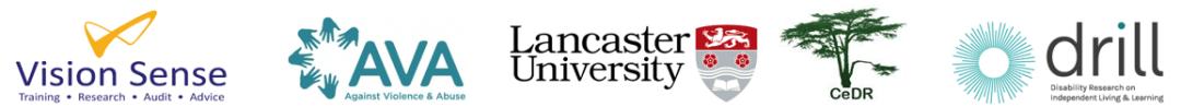 Logos: Vision Sense, AVA, Lancaster University, CeDR, DRILL