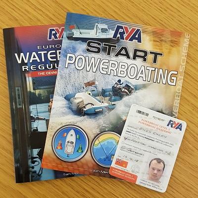 Giles Exley RYA Power Boating Certificate