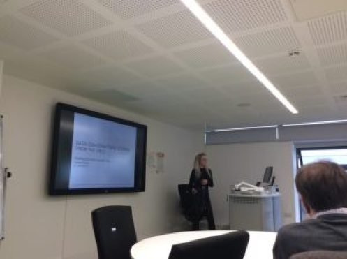 Image showing Jess as she begins her presentation