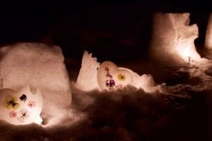 2016小樽雪あかりの路運河館の中庭にて その3
