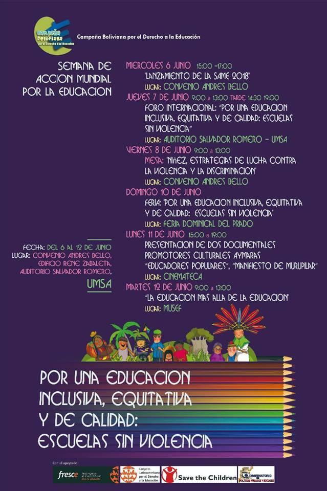 Semana de Acción Mundial por el Derecho a la Educación SAME 2018