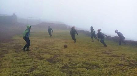 Niños pasan clases con -2ºC en la zona andina