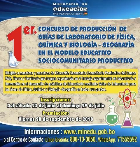 Educación lanza concurso para maestras y maestros de Física, Química, Biología y Geografía