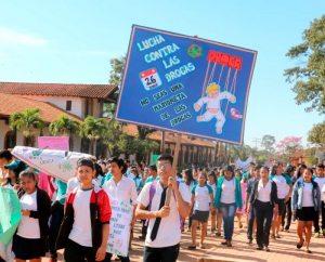 Estudiantes de San Ignacio marcharon contra drogas