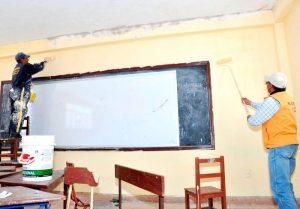 Mejoramiento de siete unidades educativas