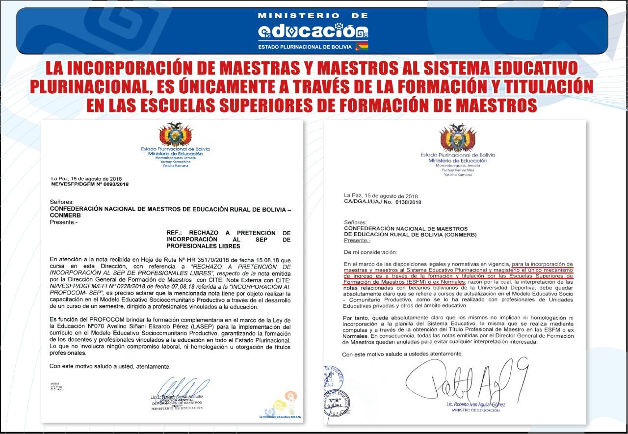 Ministerio de Educación – Comunicado
