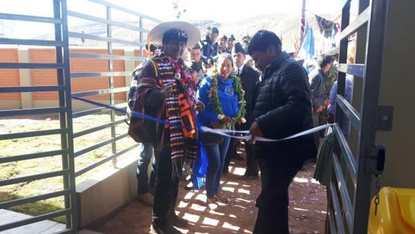 Morales entrega núcleo tecnológico productivo en el Municipio Potosino de Pocoata