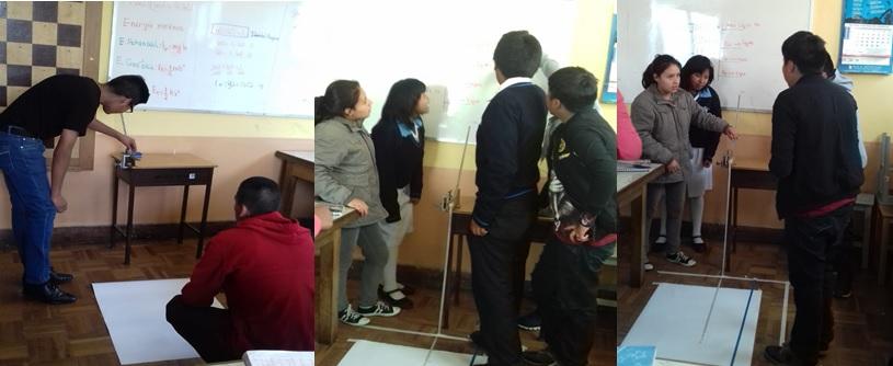 Aula Múltiple: estudiantes validan la teoría de trabajo y energía mediante la experimentación