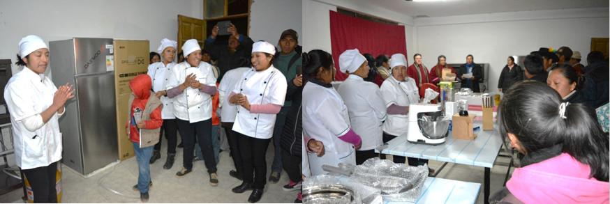 CEA ZÁRATE WILLKA II, recibe apoyo en equipamiento para gastronomía
