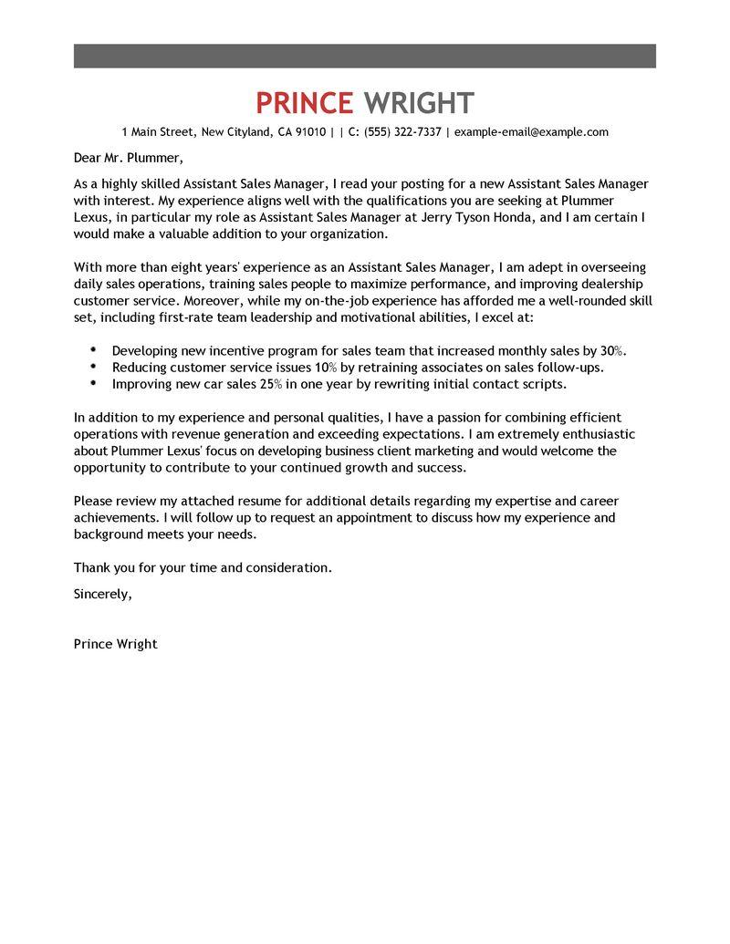 Resume Automotive Sales Manager - Virtren.com