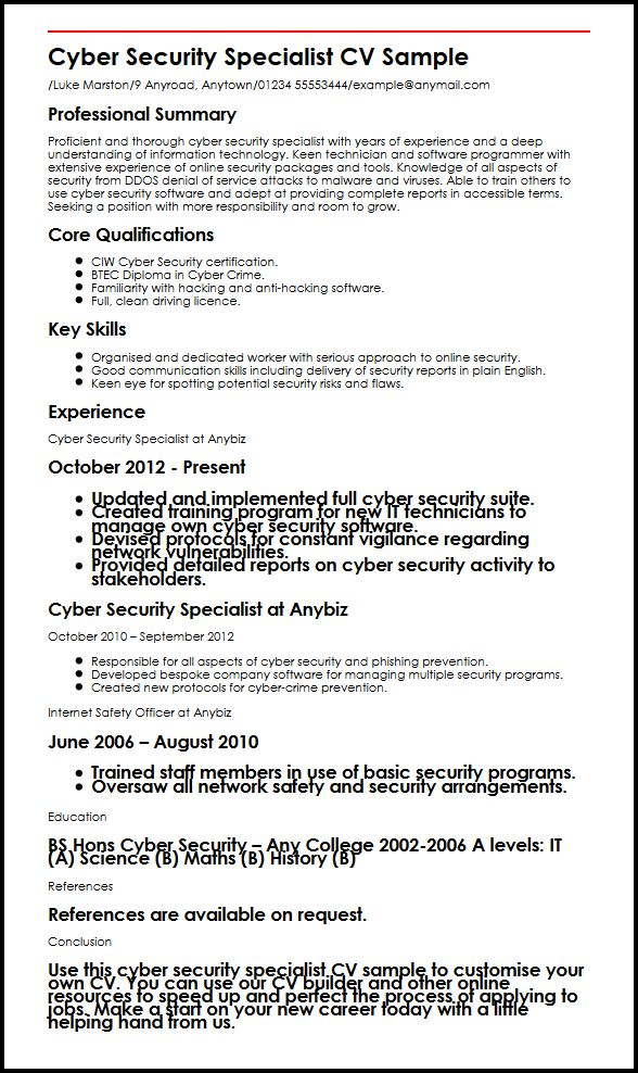Personal Security Officer Resume
