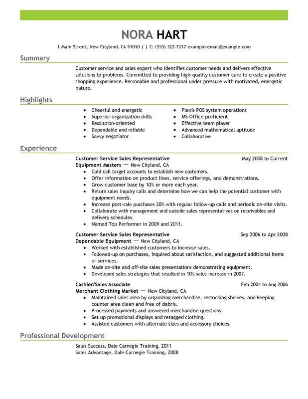 How To Write A Resume For Customer Service Representative - Resume