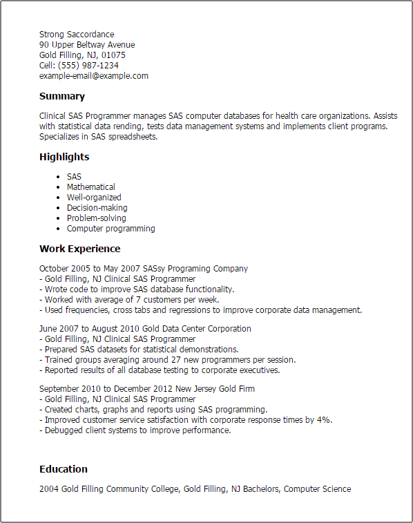 system analyst programmer cover letter