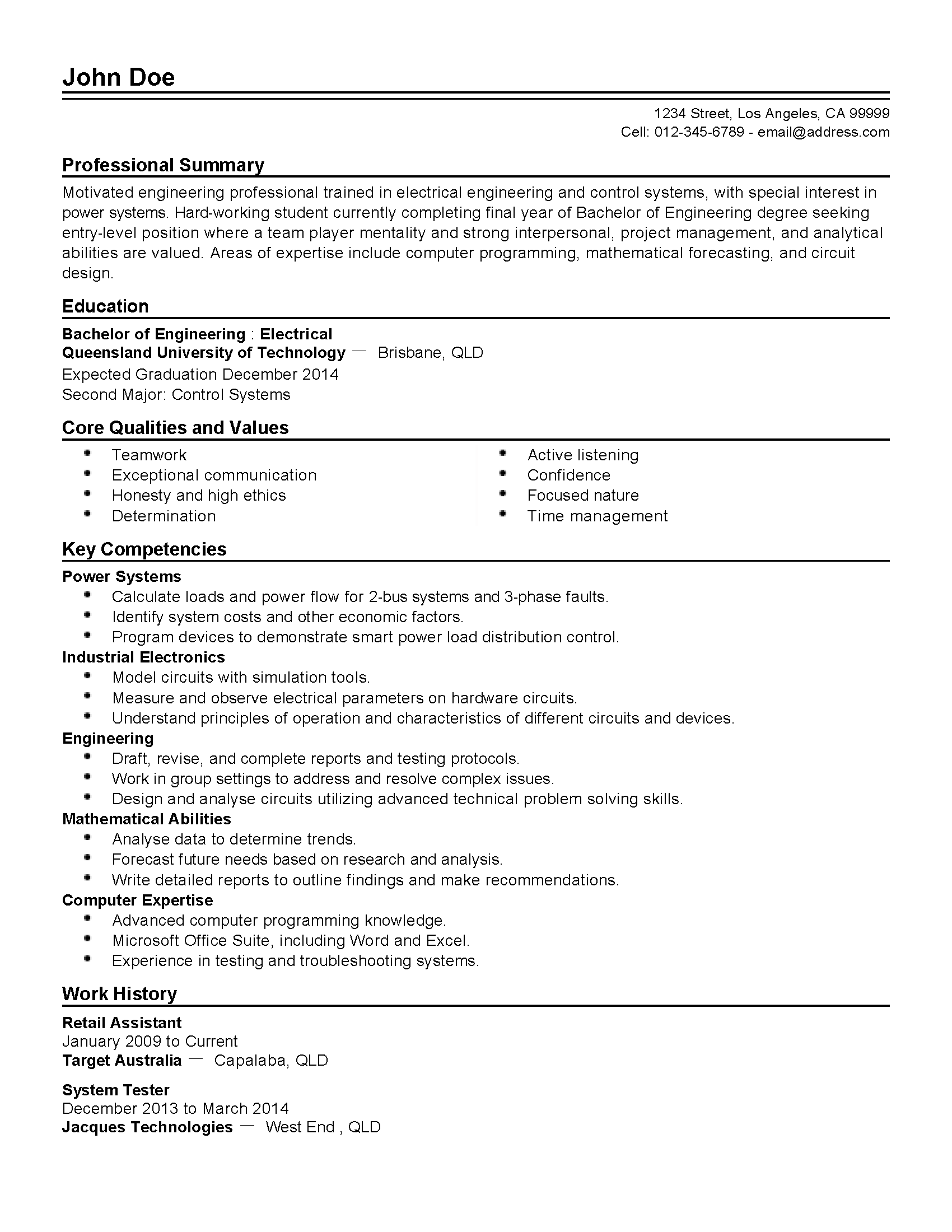 Safety Process Engineer Resume
