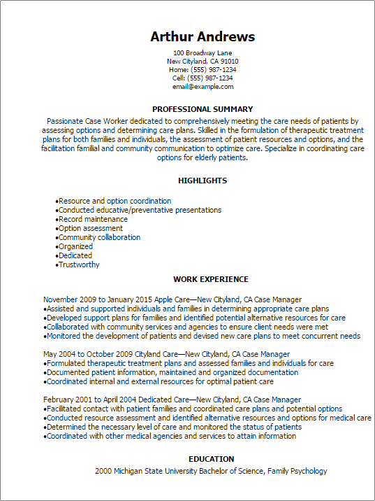 probation officer resume skills