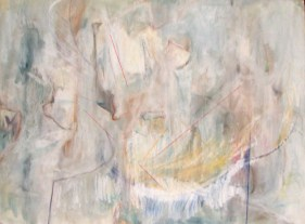 "71Turpentine Wash and Pastel Embelishment 32 x 24"" 1974."