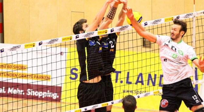 Volley League MEN / VCA Amstetten NÖ mit knapper Heimniederlage gegen Graz