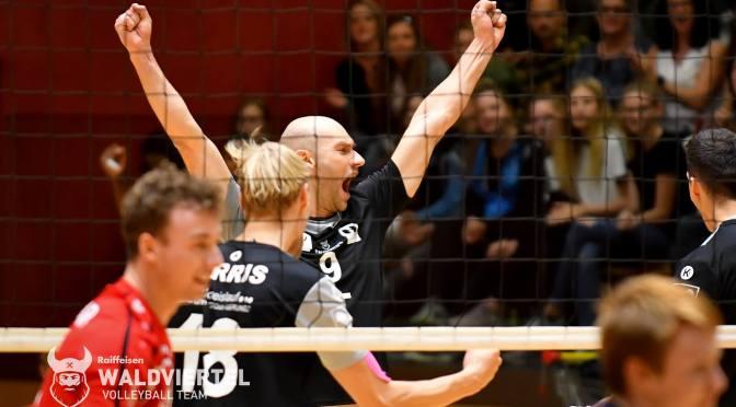 Volley League MEN / Erster Schritt Richtung Halbfinale für die Nordmänner