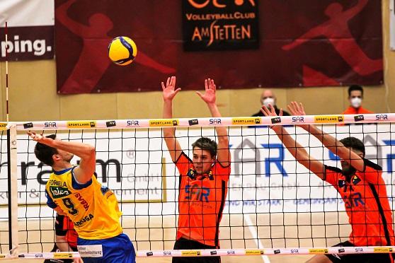 VOLLEY LEAGUE MEN / VCA Amstetten NÖ mit guter Leistung gegen Österreichs Nummer eins