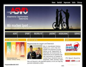 Homepage ASVÖ