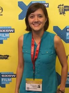 Shannon Sun-Higginson introduces GTFO at 2015 SXSW Film Festival. Photo credit: Kenneth R. Morefield