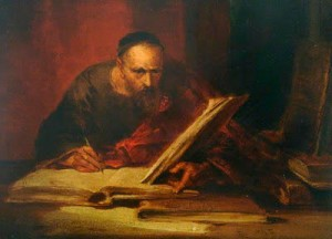 "George Cattermole, ""The Scribe"" public domain."