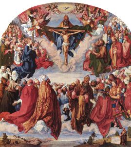 "Durer's ""Adoration of the Trinity"" captures some of the grandeur of Catholic faith"