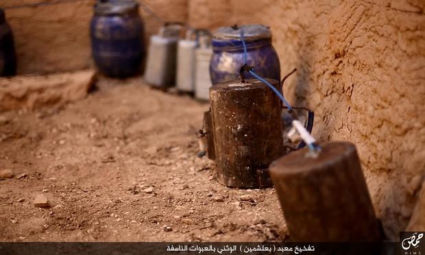 Explosives at Baalshamin, Palmyra