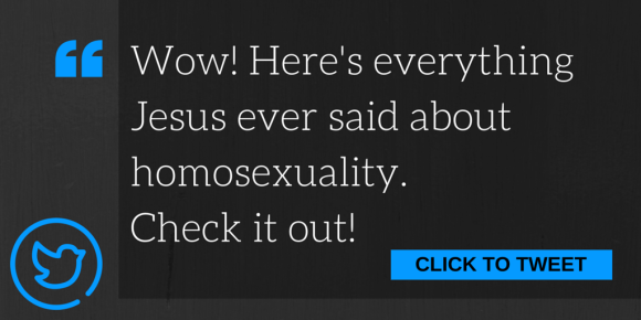 Wow! Here's Everything Jesus Ever Said About Homosexuality.