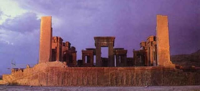 Ruins of Xerxes's Hadish Palace, Persepolis, Iran.