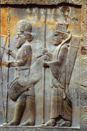 Relief of Achaemenidian soldiers dating to the reign of King Cyrus.