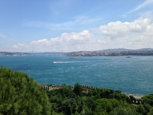 Istanbul, as seen from the Palace Topkapi.
