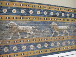 Lions along the way into the Ishtar Gate