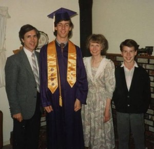 Jeff graduates from high school.