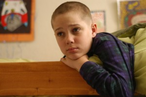 "Mason sports a new luck... begrudgingly... in ""Boyhood."""