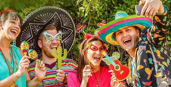 Image result for gringos celebrating 5 de mayo