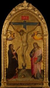 Niccolò_Di_Pietro_Gerini_-_Crucifixion_with_the_Virgin_and_St_John_-_WGA16550