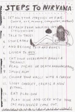 Holy Writ: page from Kurt Cobain's journals.