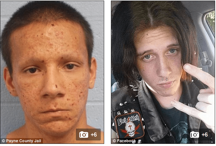 Devout Christian Isaiah Marin (left), 21,  allegedly hacked 19-year-old Jacob Crockett (right) with a sword because of the victim's interest in witchcraft