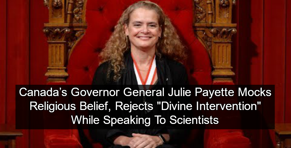 Canada's Governor General Julie Payette (Image via YouTube)