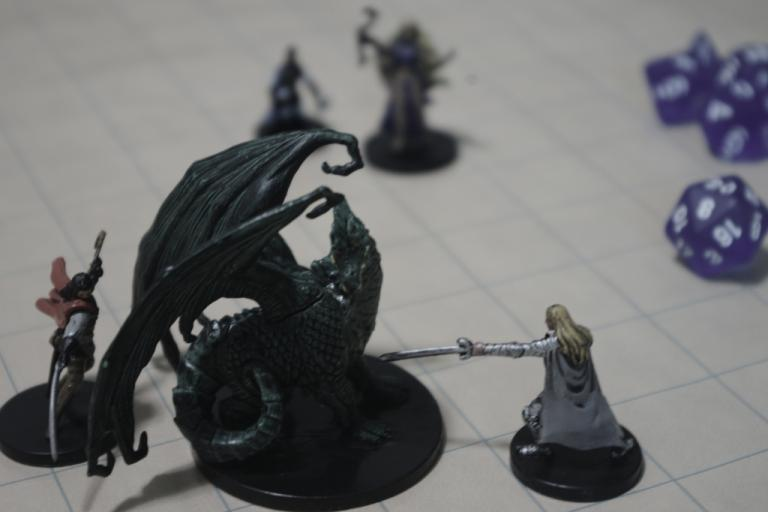 "I had a GM once who used random objects when he didn't have a miniature that was the right size or whatever. One day we're fighting something and he gets out this gigantic stuffed six-sider and sets it down in front of our tiny little 1"" minis. We were totally O.O (Dagny Mol, CC.)"