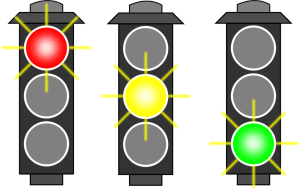 Traffic lights. Clip art by algotruneman. Public domain.