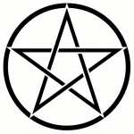 Pentacle_background_white. Image via Wikimedia Commons. Public domain.