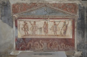 Lararium (household shrine) from the Thermopolium of Lucius Vetutuius Placidus, Pompeii