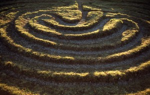 """Dalby City of Troy turf maze"" by User:SiGarb - This is a scan of a transparency which I took in the 1970s, scanned and uploaded 8 May 2005. It has been slightly cleaned-up in Photoshop.. Licensed under Public Domain via Commons - https://commons.wikimedia.org/wiki/File:Dalby_City_of_Troy_turf_maze.jpg#/media/File:Dalby_City_of_Troy_turf_maze.jpg"