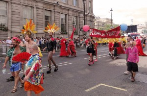 Radical Faeries parade at London Pride, Trafalgar Square. By Fæ - Own work, CC BY-SA 3.0, https://commons.wikimedia.org/w/index.php?curid=10791440