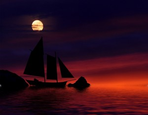 Boat at night, by Oregongal, CC0 Public Domain