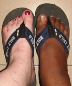 pies recién lavado (Foto: Kathleen Gibbons Schuck)