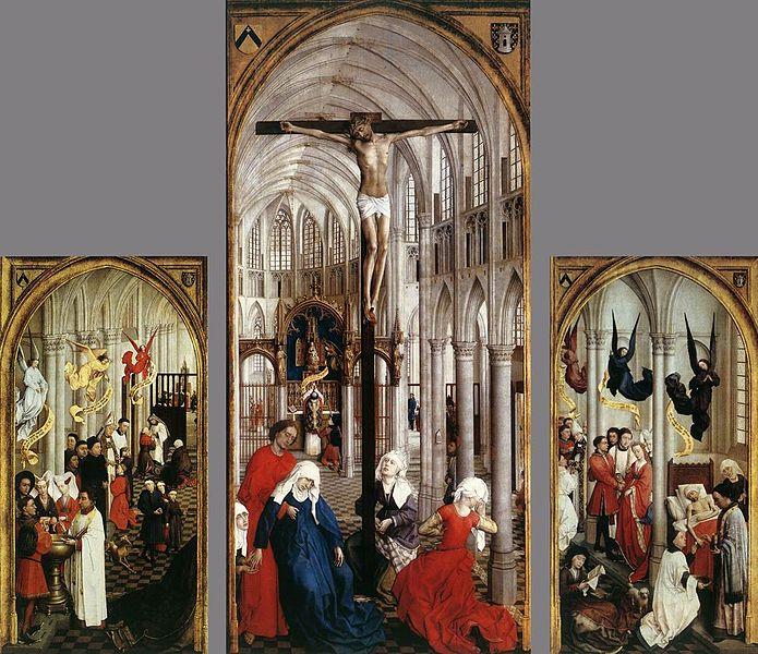 Seven Sacraments Altar Piece (1445-1450),  Rogier van der Weyden.